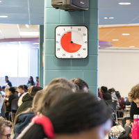 The time timer max can help keep your school's cafeteria schedule on track.