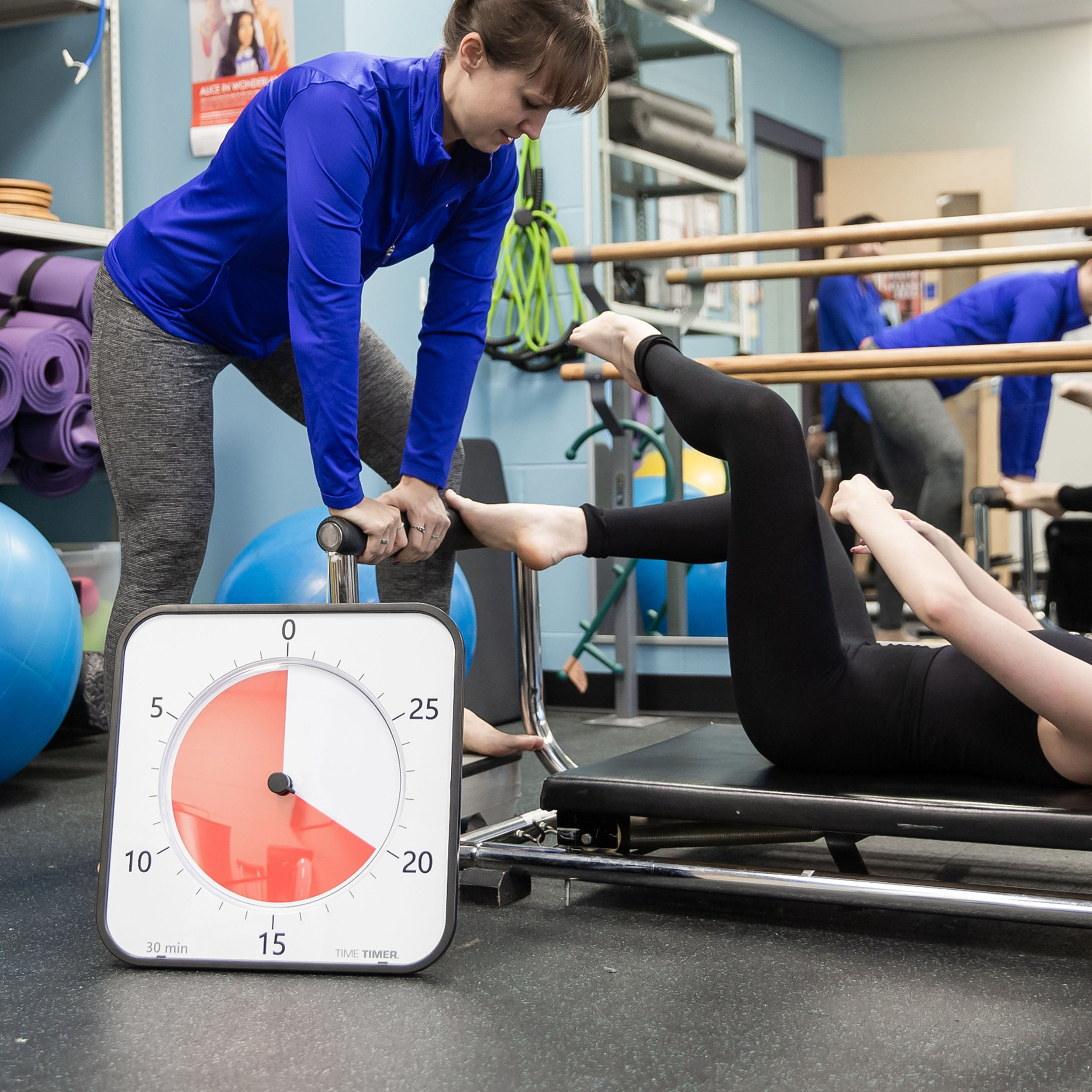 The time timer max even is useful in a physical therapy setting
