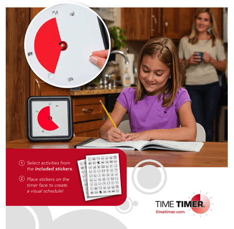 "Visual Schedule Kit for the Time Timer® 8"" or 12"" - Time Timer - 4"