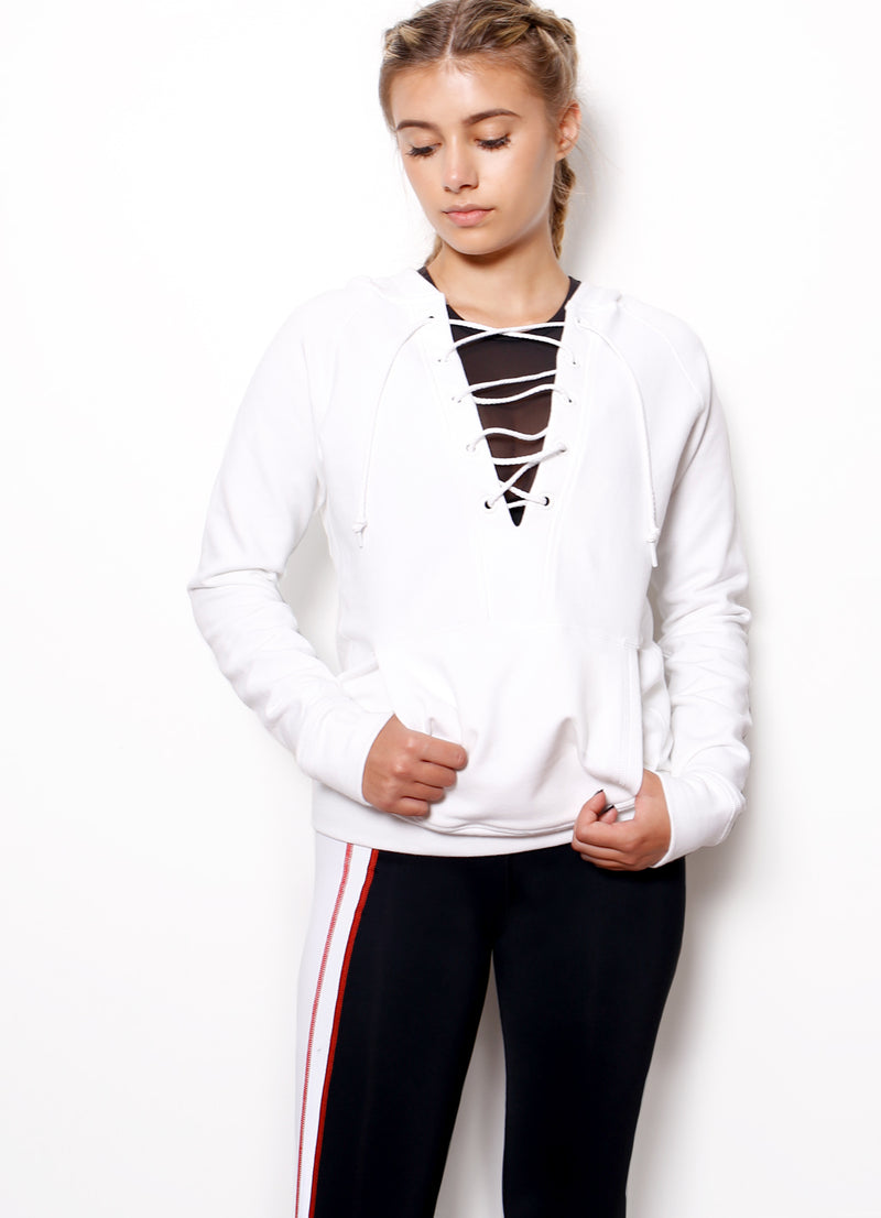 Lace Up Hoodie - Ragged Row