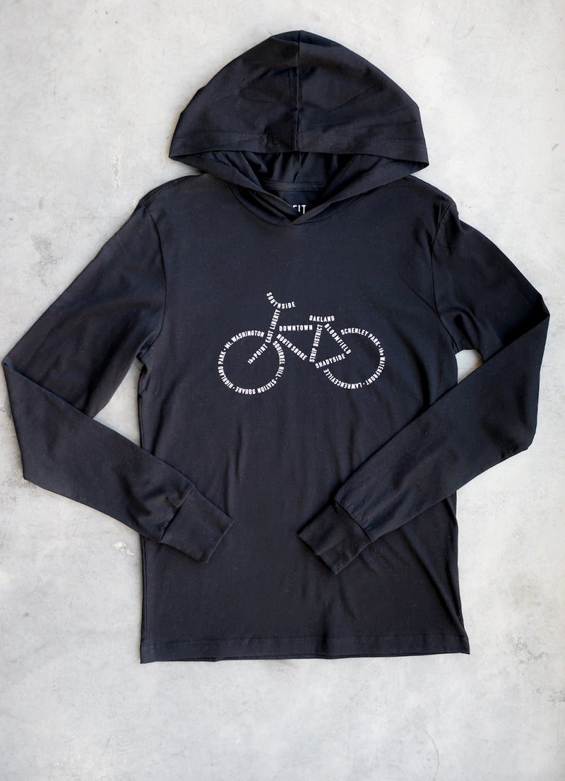 Bike PGH Hooded Long Sleeve - Ragged Row