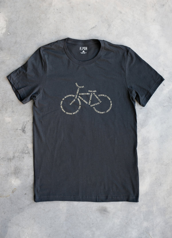 Bike PGH Tee - Ragged Row