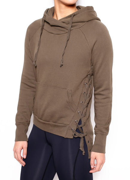Enzo Lace Up Side Hoodie