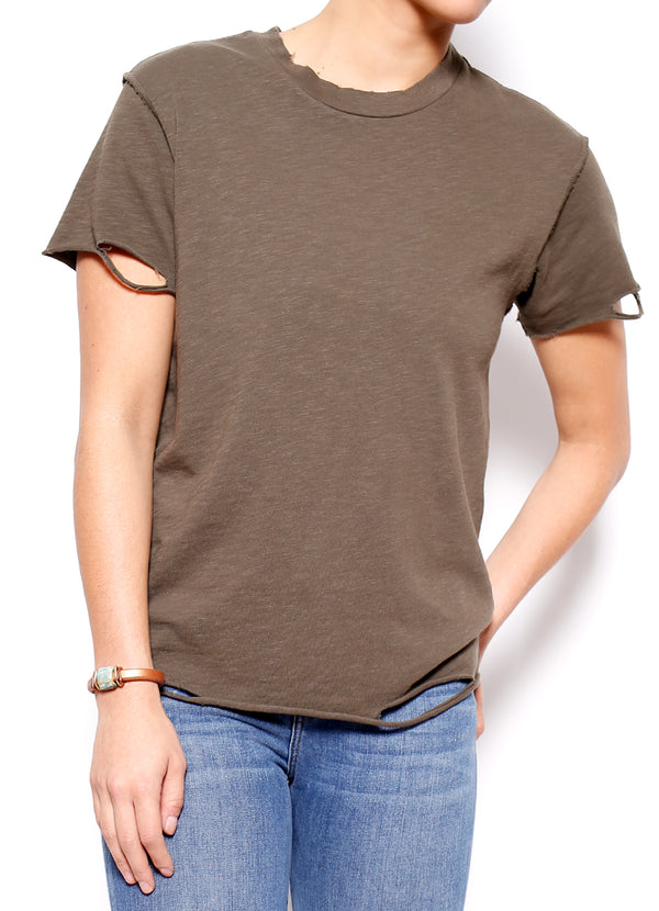 Moore Distressed Crew Tee - Ragged Row