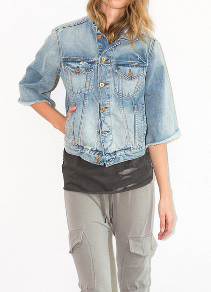 Cliq Bell Sleeve Denim Jacket