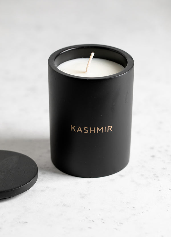 Black Concrete Candle