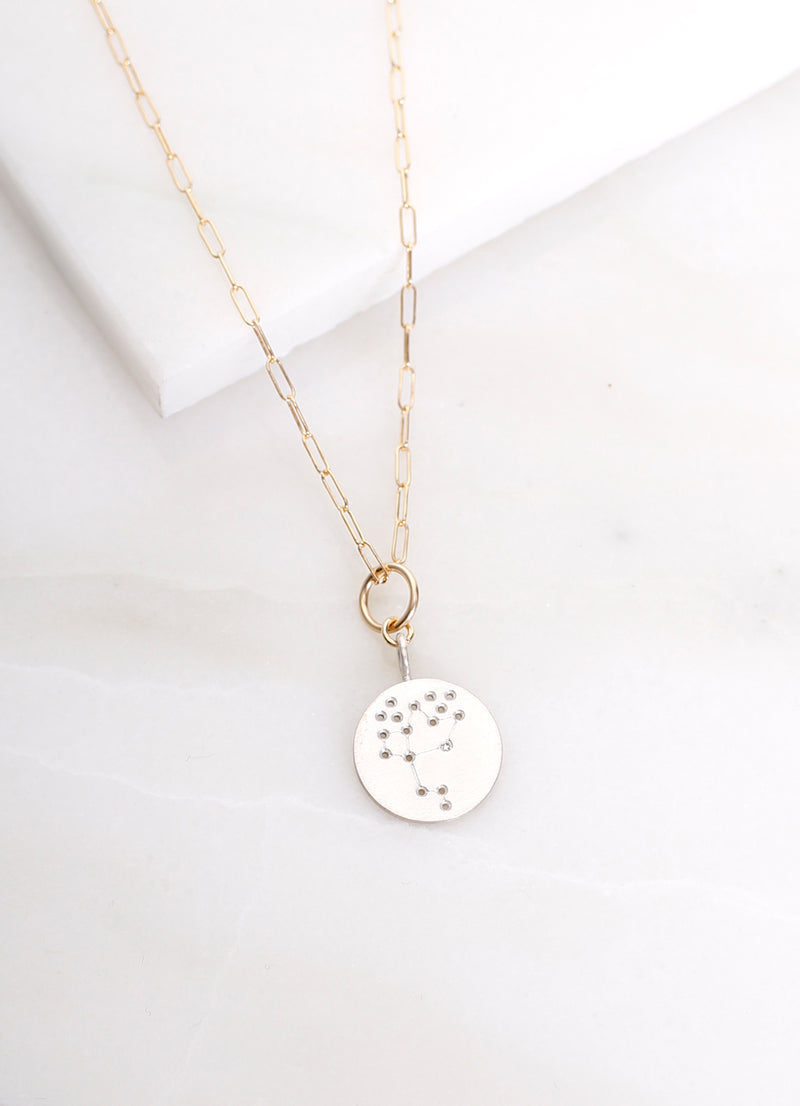 Constellation Charm Necklace Silver - Ragged Row