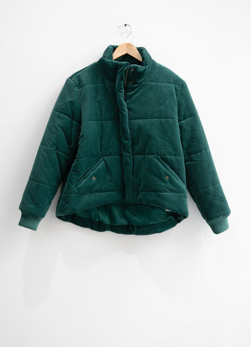 The Quilted Velvet Puffer