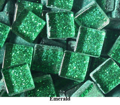 Mosaic Glitter Glass Tiles -10mm
