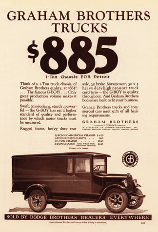 Graham Bros. Trucks Ad