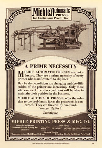 Miehle Automatic Press Ad