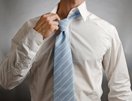 You can readjust your tie all you want during long, hot summer days. Your balls -- not so much.