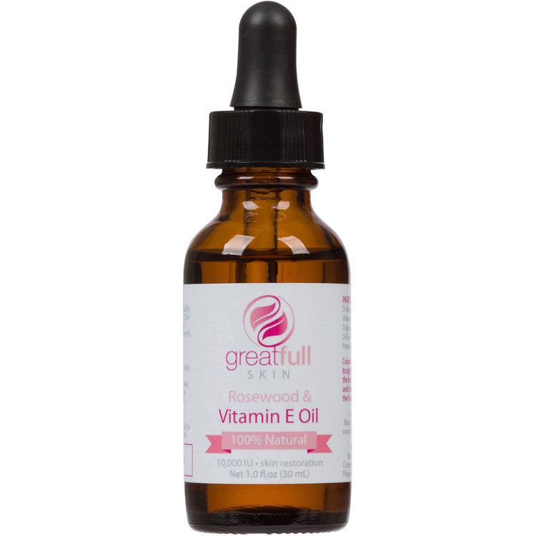 100% Natural Vitamin E Oil with Rosewood