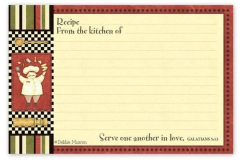 "BROWNLOW ""Top Chef"" Design Recipe Cards 36-Count 4x6"" (without Scripture)"