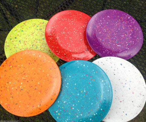 Zak! Designs Confetti Salad Plates 9-Inch, Assorted Colors, Set of 6