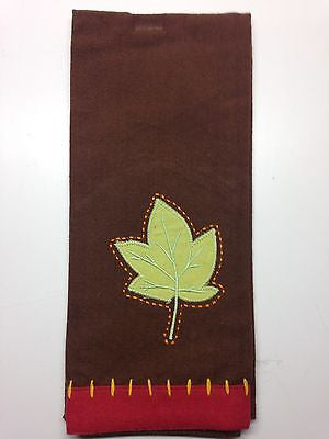 Kitchen Dish Tea Towel by Split P, Maple Leaf Design
