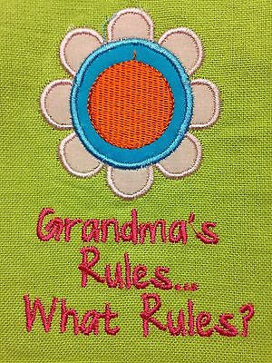 Kitchen Dish Tea Towel by Split P, Grandma's Rules Design