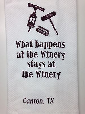 "Kay Dee Designs Kitchen Towel, 28"" x 28"", What Happens at Winery"