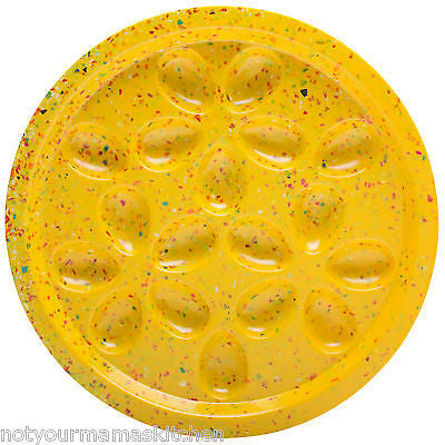 Zak! Designs Confetti Egg Tray Platter 18 Count, Yellow