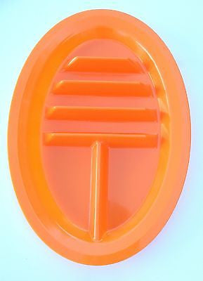 Taco Plates, BPA Free, Made in USA - Orange