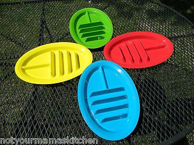 Taco Plates, BPA Free, Made in USA - Set of 4