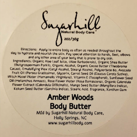 Amber Woods Body Butter 2oz