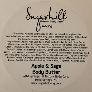 Apple & Sage Body Butter 2oz