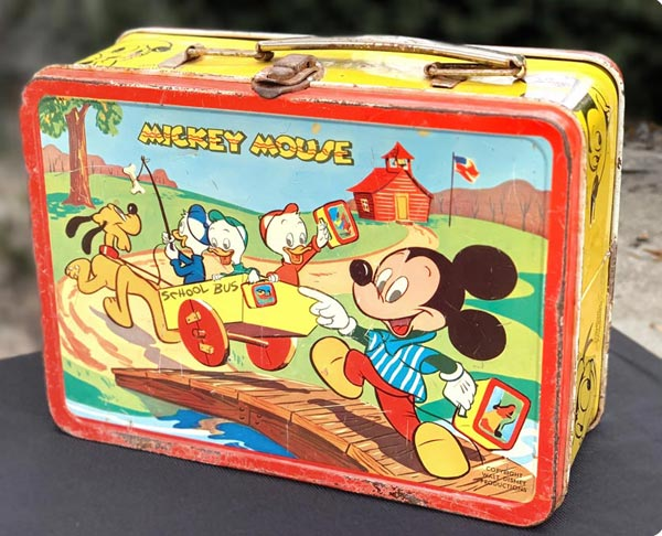 Vintage Mickey Mouse and Donald Duck Lunch Box