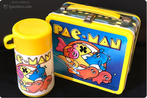 Pac-Man Lunch Box with Thermos Bottle