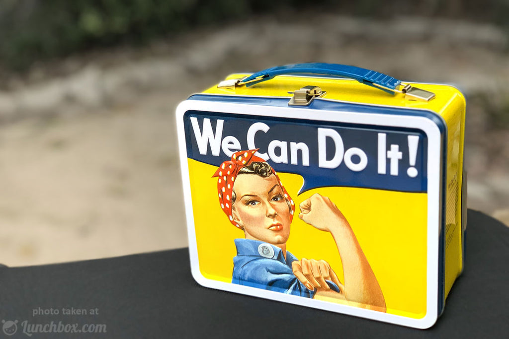 Rosie the Riveter Metal Lunch Box