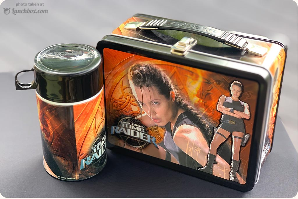 Tomb Raider Lunch Box with Thermos Bottle