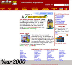 Lunchbox.com in the year 2000