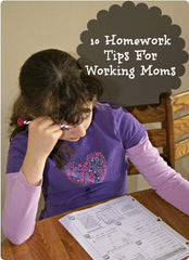 Homework Tips for Working Moms
