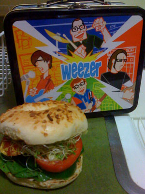 The Veggie Bagel. Mmmmm.