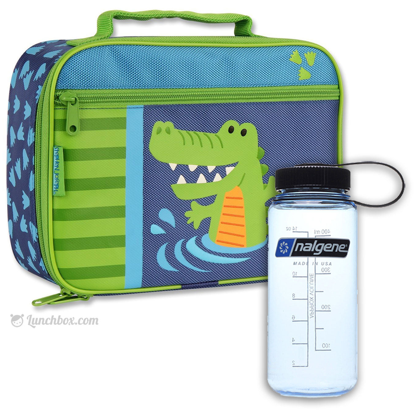 Alligator Lunchbox with Thermos Bottle