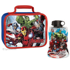 Marvel Avengers Lunch Box with Water Bottle