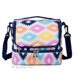 Double Decker Lunch Box - Aztec Print
