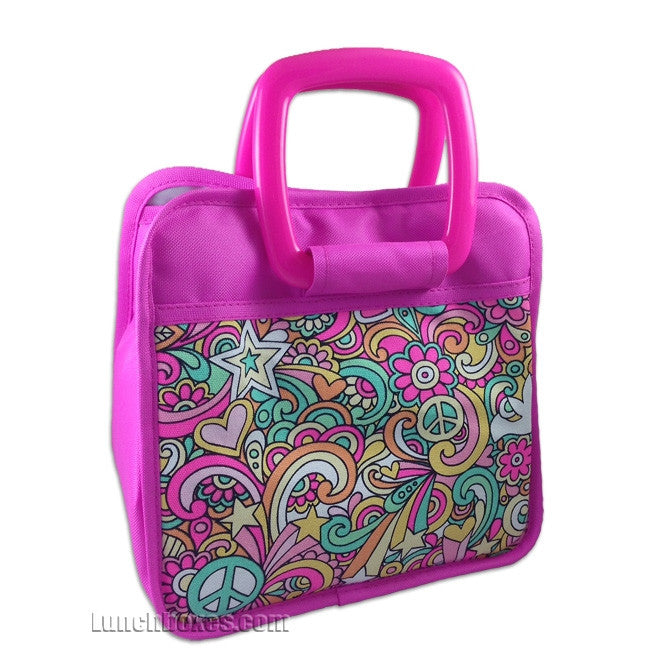 Bella - Pink Flowers - Lunch Bag