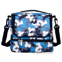 Double Decker Lunch Box - Blue Camo
