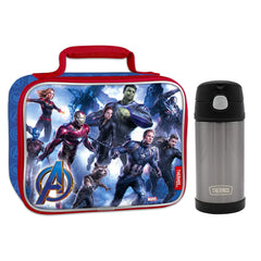 Marvel Avengers Insulated Lunch Box with Thermos Bottle