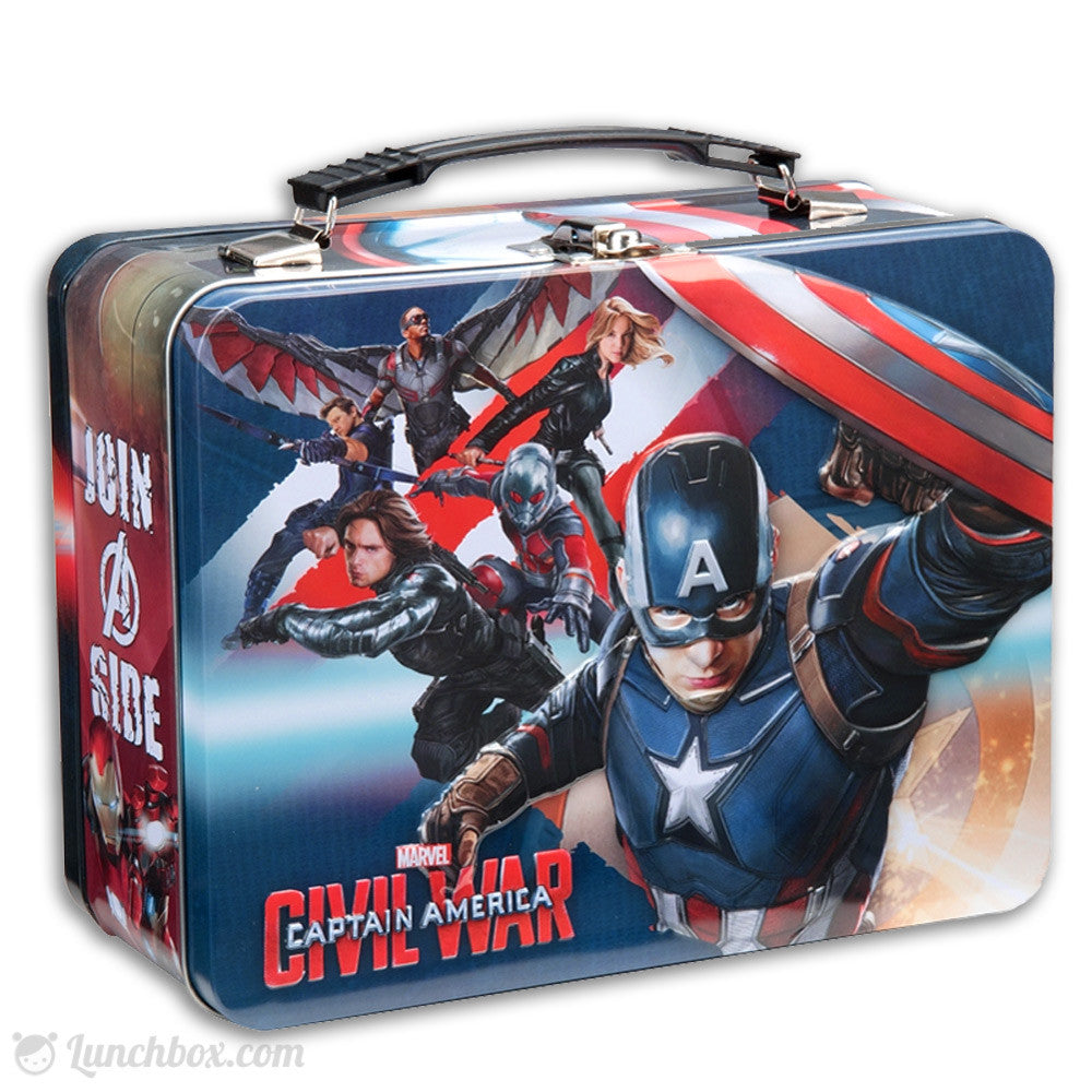 Captain America Metal Lunchbox