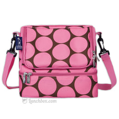 Double Decker Lunch Box - Big Dots Pink