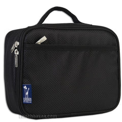 Diamond Weave Insulated Lunch Box - Black