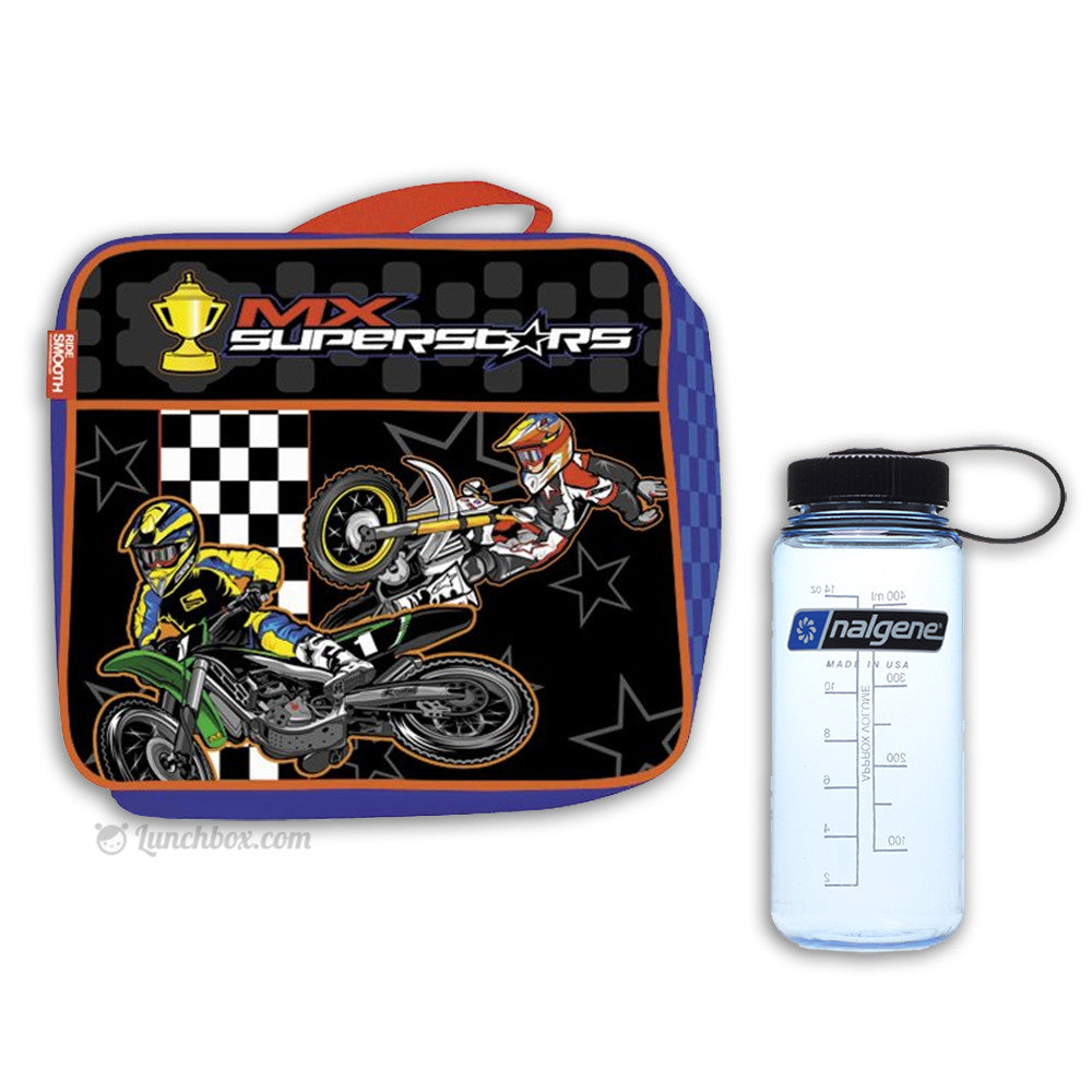 Dirt Bike Lunch Box with Thermos Bottle