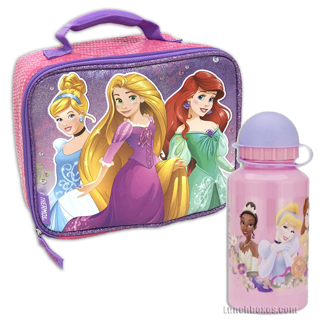Disney Princess Lunch Box with Drink Bottle
