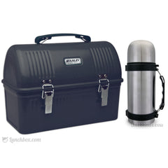 Black Dome Lunch Box and Flask