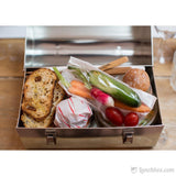 Plain Metal Dome Lunch Box - Silver