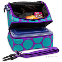 Double Decker Lunchbox - Big Dots Aqua