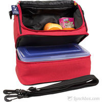 Double Decker Lunchbox - Cardinal Red