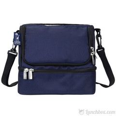 Double Decker Lunch Box - Navy Blue